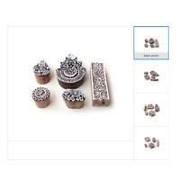 Indische Floral Holzblöcke Stempel DIY Stoff Textil Drucken Stamps