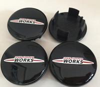 4pcs 54mm Mini Cooper JCW Logo Emblem Alloy Wheel Center Caps Hub Caps Rim Caps
