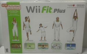 Wii Fit Plus w/ Black Rubber Cover On Balance Board,Game,and Battery Pack BUNDLE