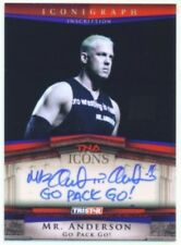 """MR ANDERSON """"GO PACK GO AUTOGRAPH CARD /5"""" TNA ICONS"""