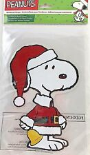 PEANUTS SNOOPY CHRISTMAS HOLIDAY WINDOW CLINGS JELZ * NEW *