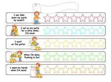 Tabla de bonificación de Inodoro para niños con pegatinas sonriente cara estrella (Dormitorio de Niños)