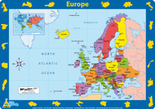 Europe - Children's Educational Placemat by Little Wigwam