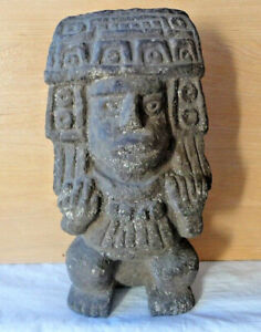 Pre-Columbian Aztec Mayan Figure Artifact