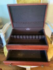 Vintage wood Pacific Silvercloth Silverware flatware  storage Chest Box  Drawer