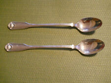 Oneida Silver Shell set of 2 iced tea spoons  silverplate