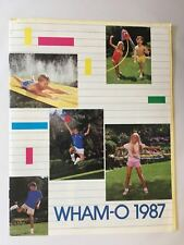 1987 WHAM-O Full Line Toy Fair Catalog Frisbee Flying Disc Hula Hoop Vintage VG+