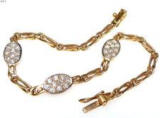 Natürliche Echtschmuck-Armbänder im Ketten-Stil mit Diamant