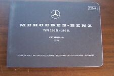 1970 Mercedes 280SL 250SL Owners parts catalog W113 Manual 1971 1969 1968 pagoda