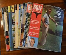 Lot Of (10) Golf Digest & Golf Magazines All From 1964 Nicklaus Player Palmer