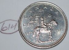 Canada 1973 25 cents Canadian Mountie Quarter Coin Lot #614