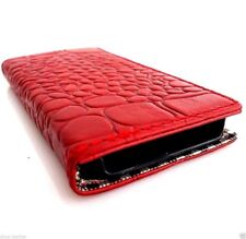 genuine leather case for iphone 5 s book wallet holder 5s crocodile Model art id