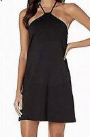 NWT Susana Monaco Women's Dress Black Sheath Racerback Stretch Size S