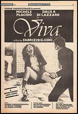 VIVA__Original 1980 Trade print AD / poster__DALILA DI LAZZARO__MICHELE PLACIDO
