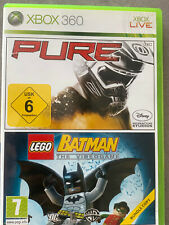Pure + Lego Batman: The Videogame (Microsoft Xbox 360) Spiel in OVP