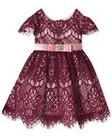 NEW RARE EDITIONS Baby Girl Dress, Burgundy/Pink