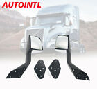 AUTOINTL 2004-2017 Volvo VNL Chrome Hood Mirror Assy Pair Set with Mounting Kit