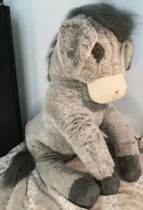 Riesiger Esel 130cm Guter Zustand Stofftier Plüschtier XXL Sehr groß Grau Donkey