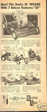 1959 LARGE Print Ad of Western Auto Wizard Lawn Mower