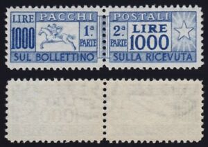 """Italia 1954 P. P. L. 1000 """"Cavallino"""" n. 81/I nuovo MLH* leggera traccia ling."""
