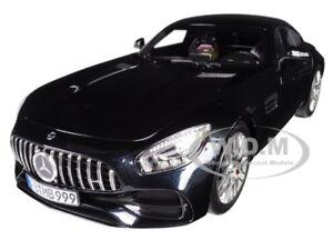 2018 MERCEDES BENZ AMG GT S METALLIC BLACK 1/18 DIECAST MODEL BY NOREV 183497