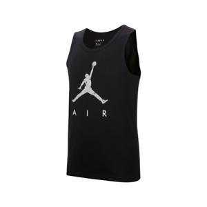 Nike Air Jordan Men's Gray Jumpman Basketball Gym Sports Performance Black Tank