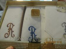 "New PARIS CLASSIC  Men's ""R""Initial Handkerchief Gift Set"