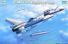 PLAAF J-10S VIGOROUS DRAGON TRUMPETER 1/48 PLASTIC KIT