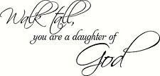 "Walk Tall Daughter V1 11""x22"" Bible Verse Wall Decal by Scripture Wall Art"