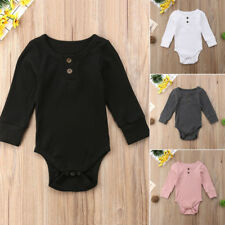 Newborn Toddler Baby Girl Boy Romper Jumpsuit Bodysuit Outfits Sweater Clothes