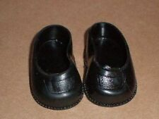 pair of doll shoes, black/plastic/ 30/ 1  3/4""