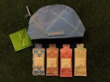 New~NWT Vera Bradley~Preppy Poly Sky Blue Mini Cosmetic Bag With Lotion Samples