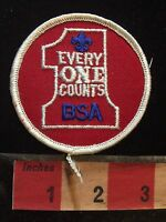#1 Everyone Counts ~ BSA Boy Scout Patch ~ Number One 75WT