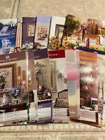 Set 15 Vintage HOME INTERIORS HOMCO BROCHURE SALES CATALOGS LOT #17