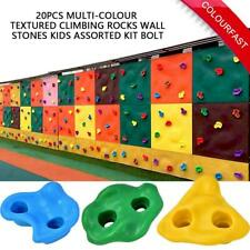 20 Pcs Assorted Rock Stones Wall Hand Kid Climbing Holds Grip Multi-colour New