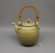 Bridget Drakeford Celadon Glazed Porcelain Studio Pottery Teapot