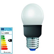Sonderposten 5W Energiesparlampe Globe Tropfen Ultramini weiß E27 46x93mm 14945