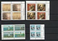 Canada Mint Never Hinged Stamps Blocks ref 22492