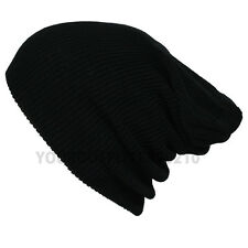 Knit Crochet Fashion Oversize Baggy Beanie Slouch Unisex Ski Cap Men Women Hats