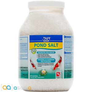 API Pond Salt 9.6 lbs Promotes Koi Fish Health Improves Gill Function