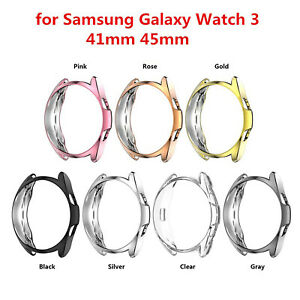 Case Cover For Samsung Galaxy Watch 3 41 45mm + Tempered Glass Screen Protector