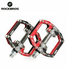 ROCKBROS MTB Bike Cycling Pedals Aluminum Alloy MTB Sealed Bearing Pedals Red