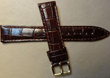 LONG Timex T2M837 Dark Brown Simulated Crocodile Grain 20mm Watch Band Strap