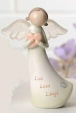 Angel with Sentiment Live, Love, Laugh Figure Roman Giftware Item 60761a Nib