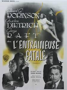 L'ENTRAINEUSE FATALE - M.DIETRICH - R.WALSH - 1941-WB- ON LINEN