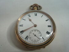 Pocket Watch, Waltham Traveler, Gold Plated, Stem Wind, 1907.
