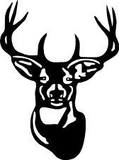 "Hunting Deer Head Vinyl Decals Car Truck Trailer Stickers (22"" W x 30"" H)"