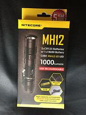 BRAND NEW NITECORE MH12 1000 Lumen Flashlight WITH 3200 MAH BATTERY
