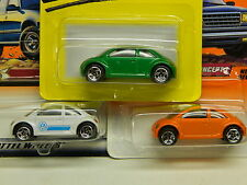 Matchbox VW Concept x 3 - Green (1997 SF) - White (1999) - Orange (1998) MOFC *