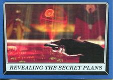 Star Wars Rogue One Mission Briefing Blue Base Card #7 Revealing the Secret Pla